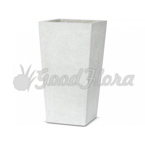 Кашпо CAPI Lux Конус квадратный 24x24x46 см Светло-серый