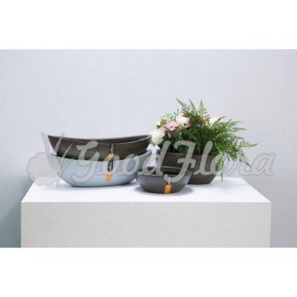 Кашпо CAPI Lux Гондола 46x20x13 см Голубой