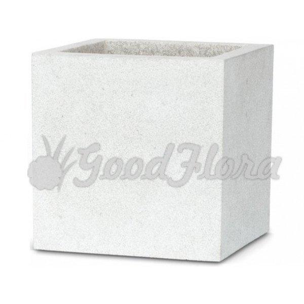 Кашпо CAPI Lux Куб 40x40x40 см Светло-серый