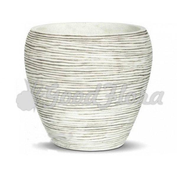 Кашпо CAPI Nature Овальное 16x14,5 см Белое
