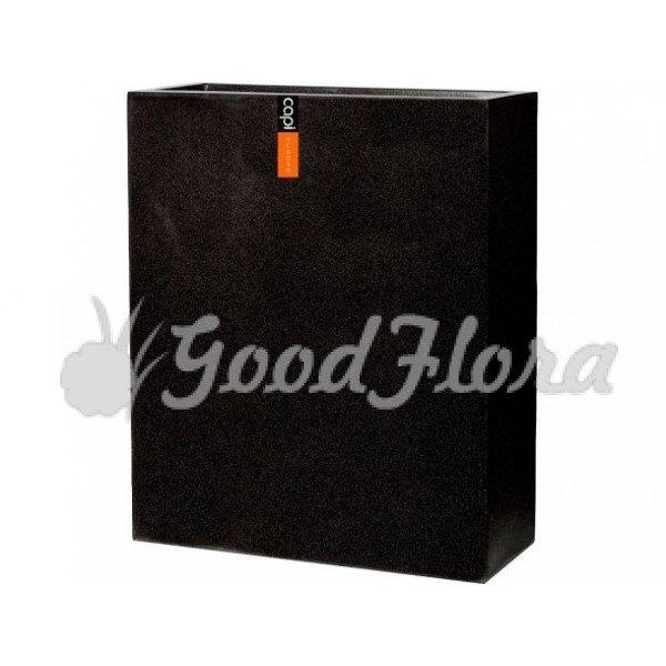 Кашпо CAPI Lux Дивайдер Высокий 88x36x100 см Черный