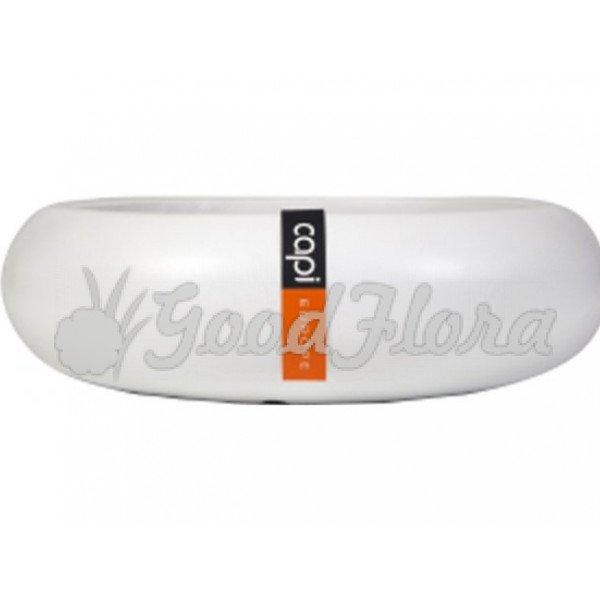 Кашпо CAPI Lux Плоская чаша 49x14 см Белое