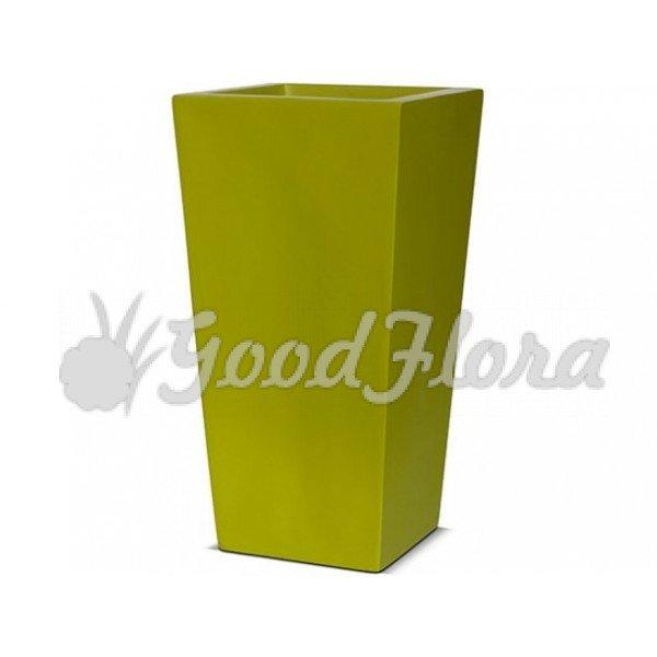 Кашпо CAPI Lux Конус квадратный 24x24x46 см Зеленый