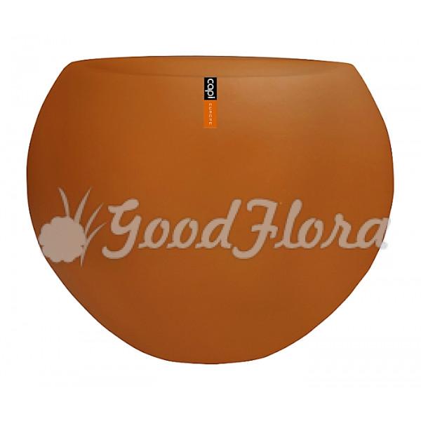 Кашпо CAPI Lux Ваза шар 40x32 см Оранжевое