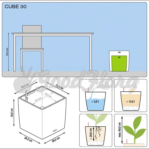 Кашпо Lechuza Cube 50 с системой автополива